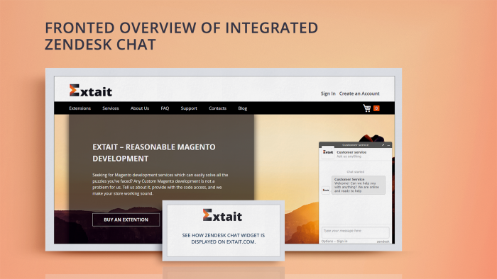 Magento Zendesk Chat Integration Extension, Zendesk Chat
