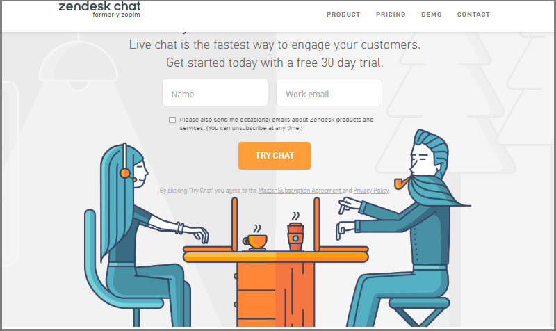 Use Zendesk chat