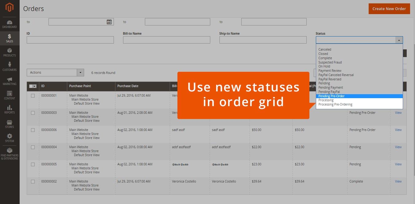 Track Orders Via Pre-Order Statuses